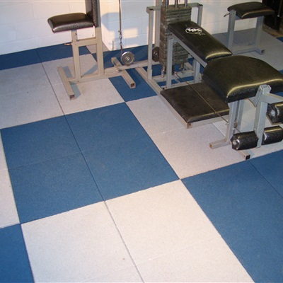 Residential Application of a Fitness Floor