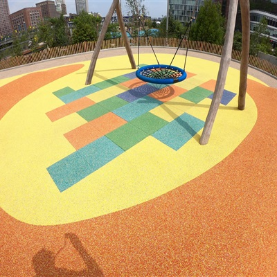Interlocking Play Tile Safety Surfacing Durable Playground