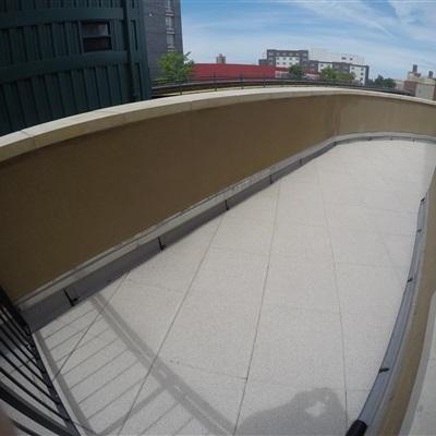 Rubber tiles for walkways