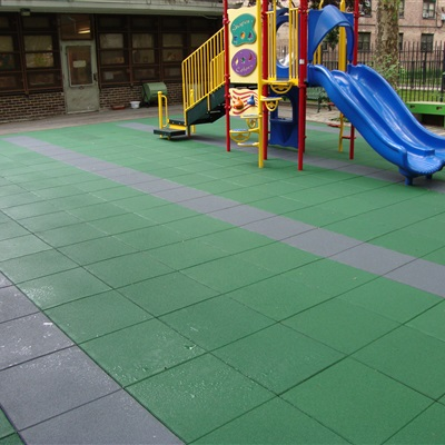 Inner City School Playground with Designs