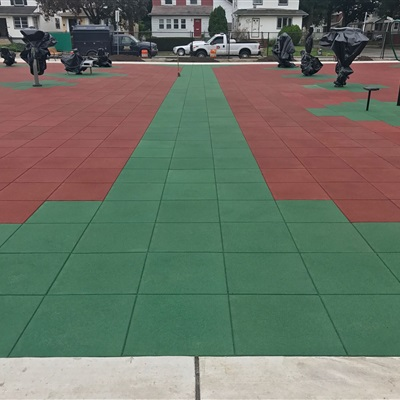 Exterior Athletic and Fitness Flooring at a Park