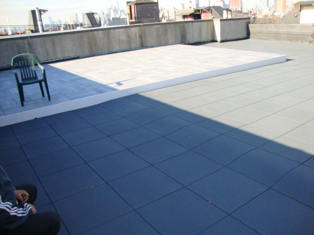 Handicapped Accessible rooftop patio surfacing for the assisted living