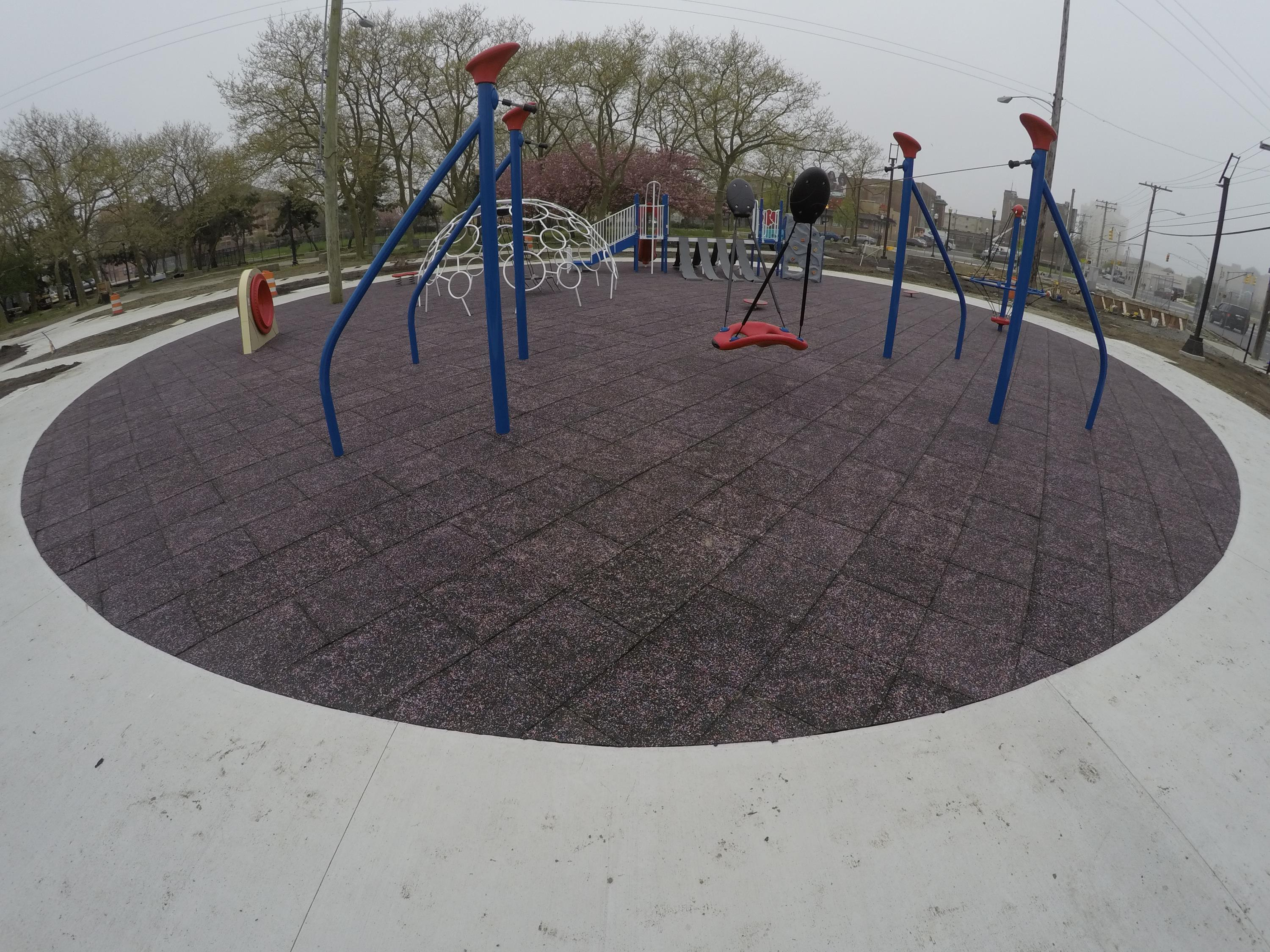 Interlocking Play Tiles in AC Park Playground Setting