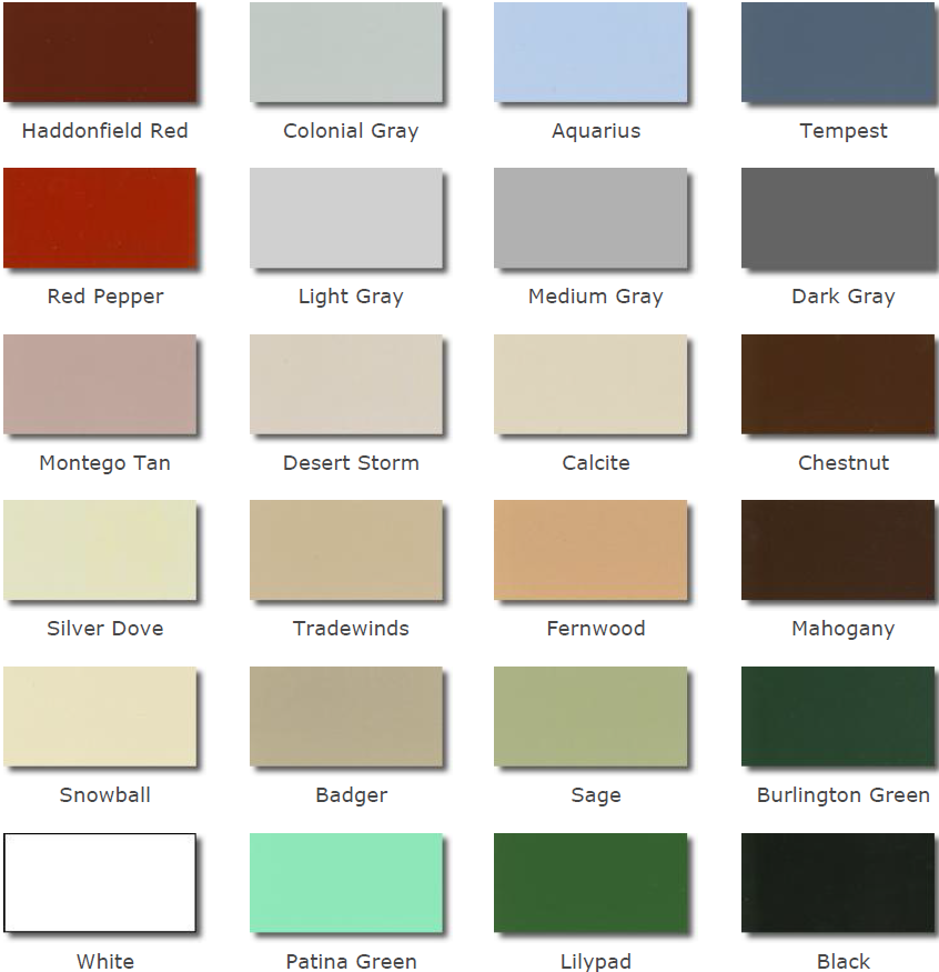 UNITY - Standard Paint Colors for Pigmented Rubber Tiles