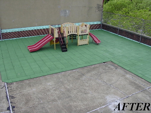 Unity - Rooftop Playground After it has been painted with Unity Surfacing Systems Products