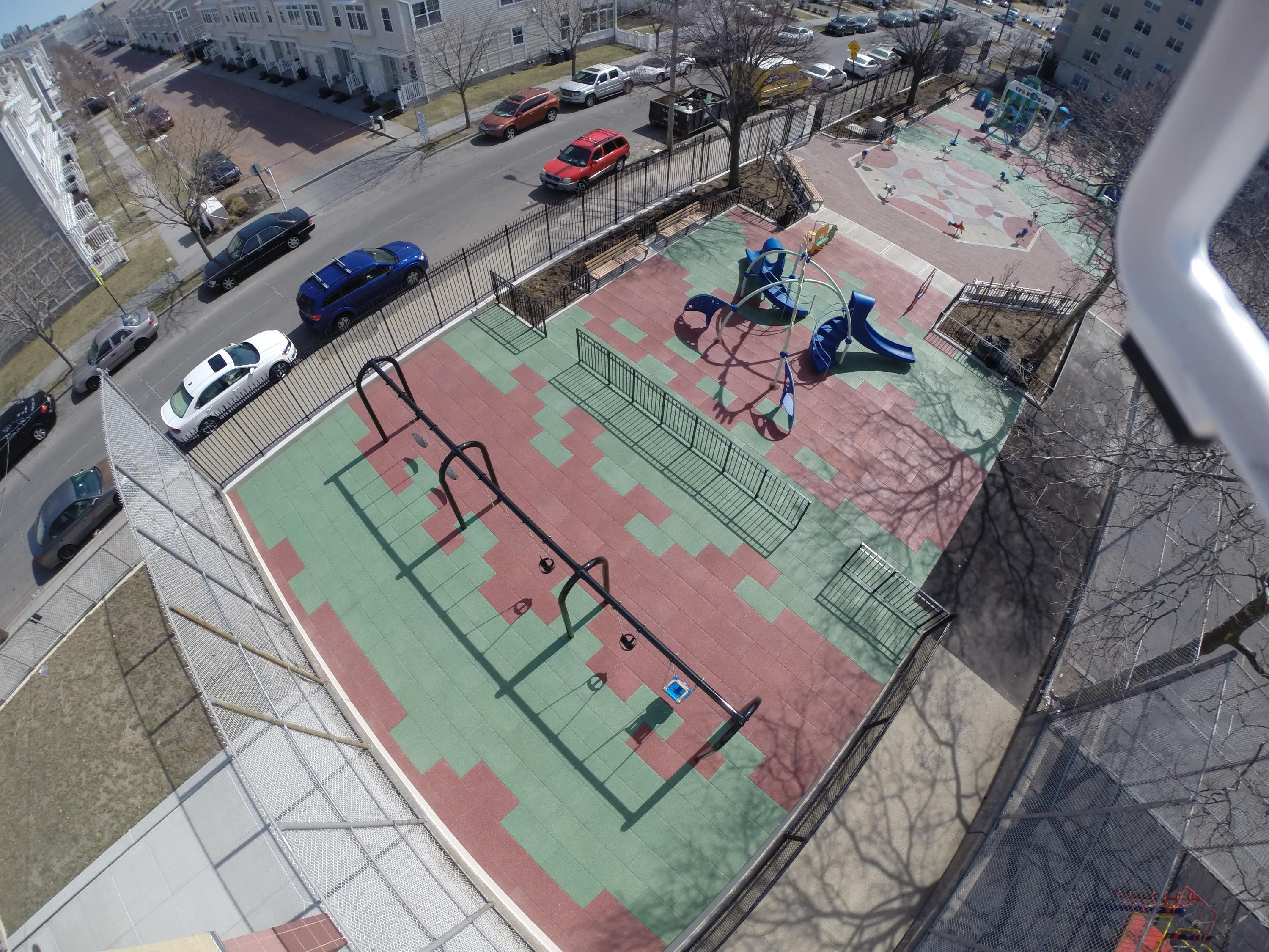 Play-Land Rubber Tiles by UNITY at this park in Coney Island