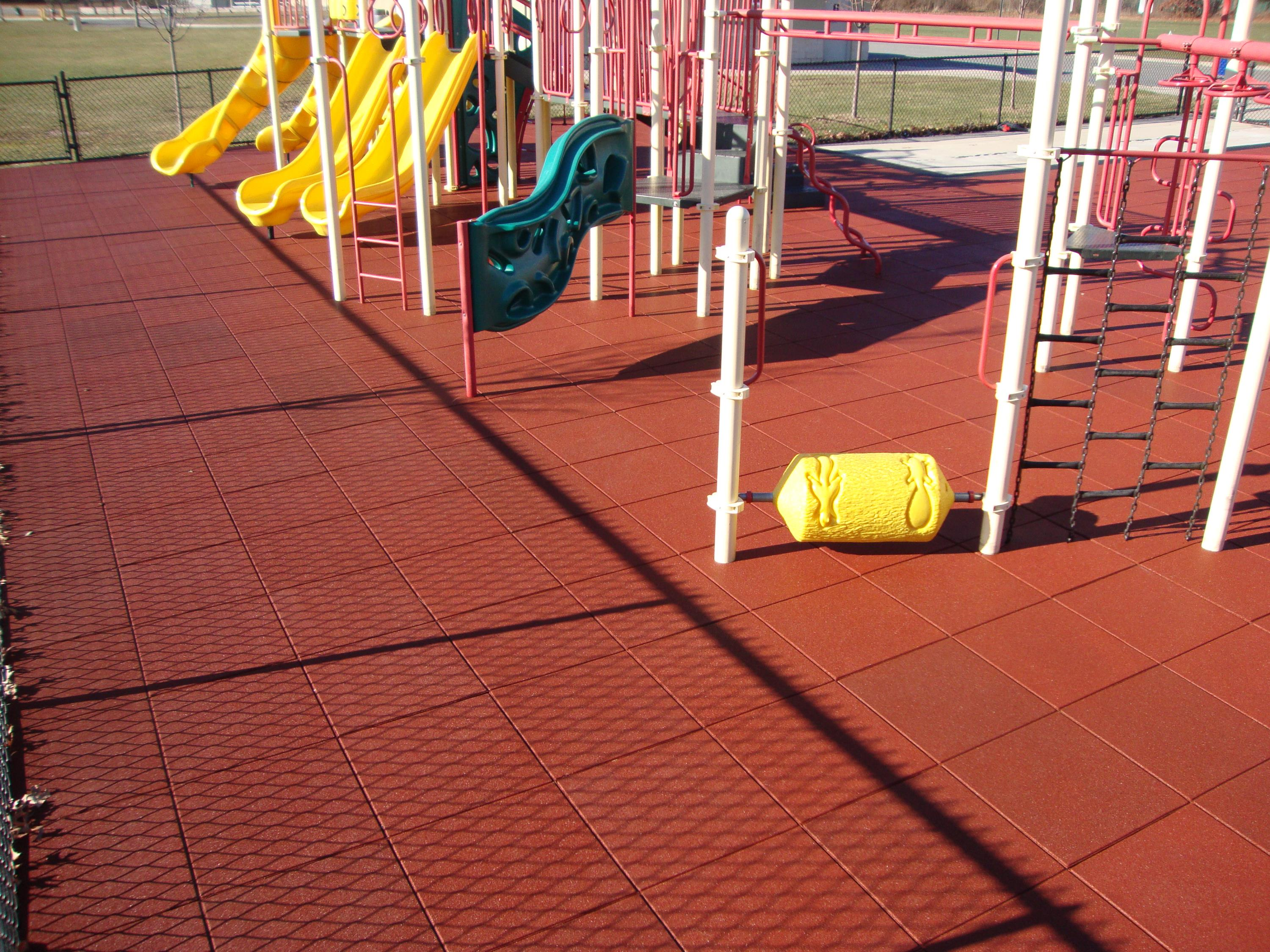 "UNITY'S Play-Land Series on this park playground using 2.5"" Pigmented TC-Red"
