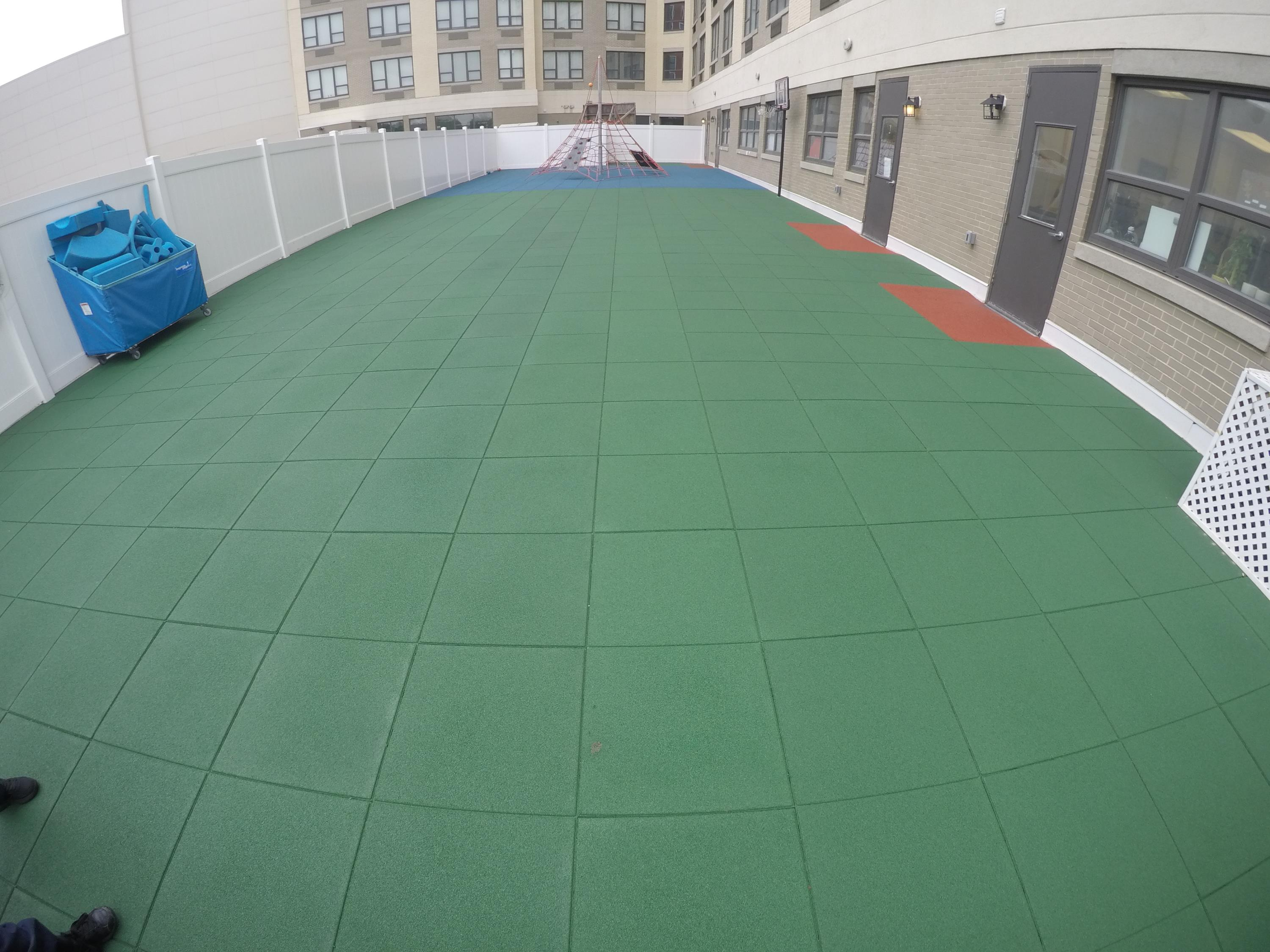Unity Surfacing's Play-Land Tiles at this daycare center
