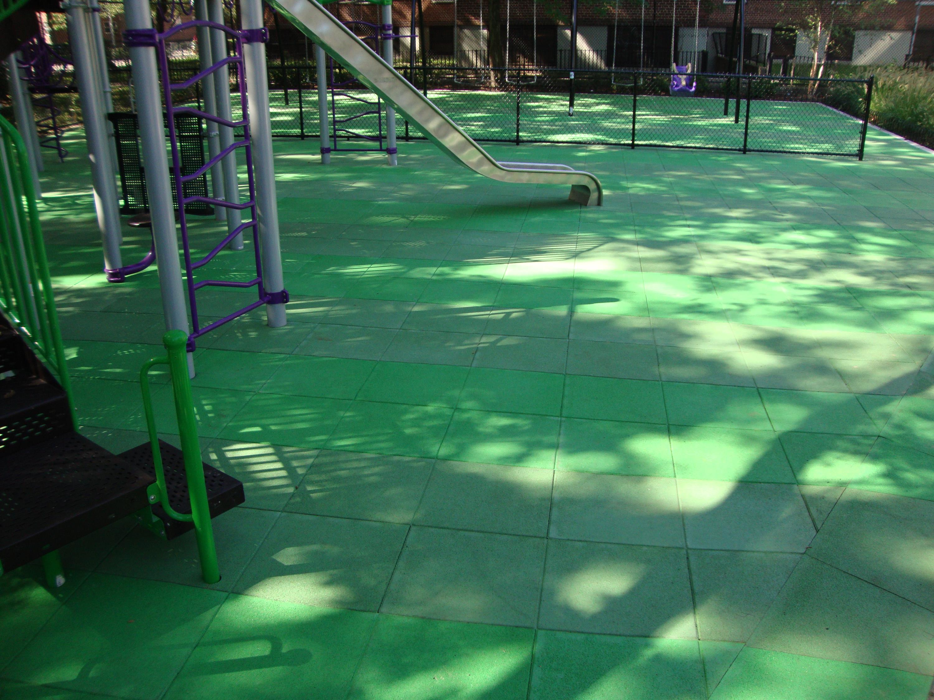 UNITY'S Park Playground Tiles Using Solid TPV Top Color Chips