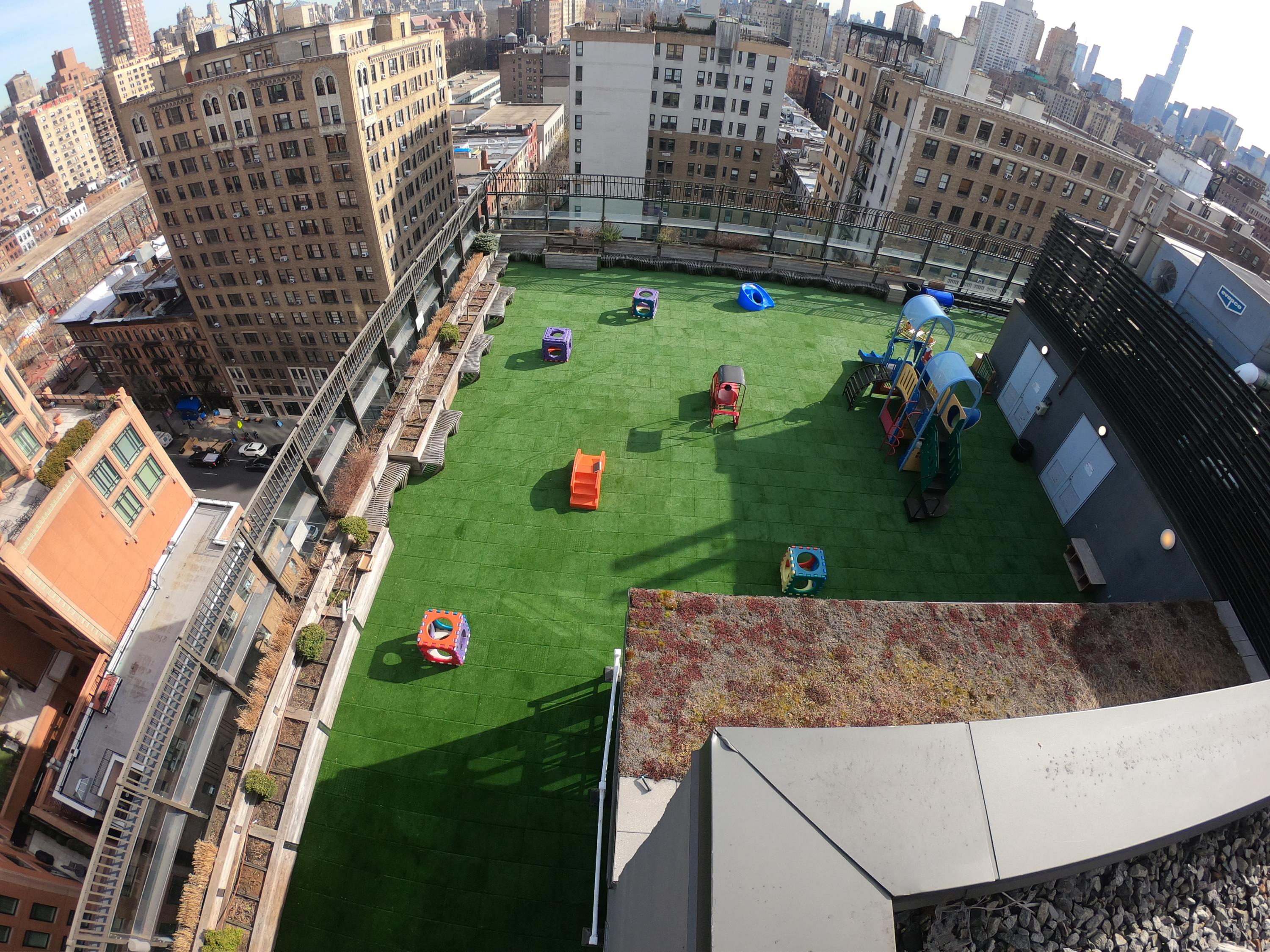 UNITY Surfacing at Rooftop Playground using Turf-Tiles