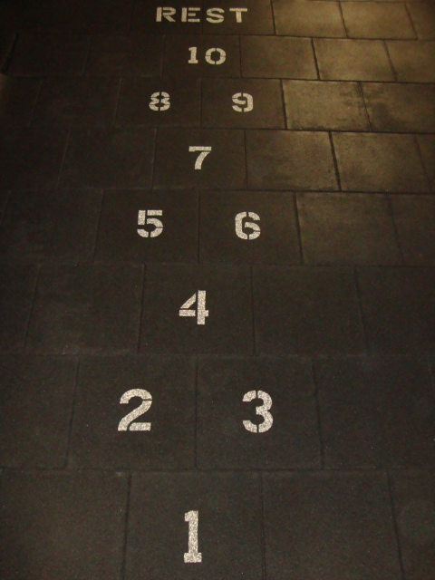 UNITY'S Rubber Playground Tiles with Hopscotch Design Inlaid