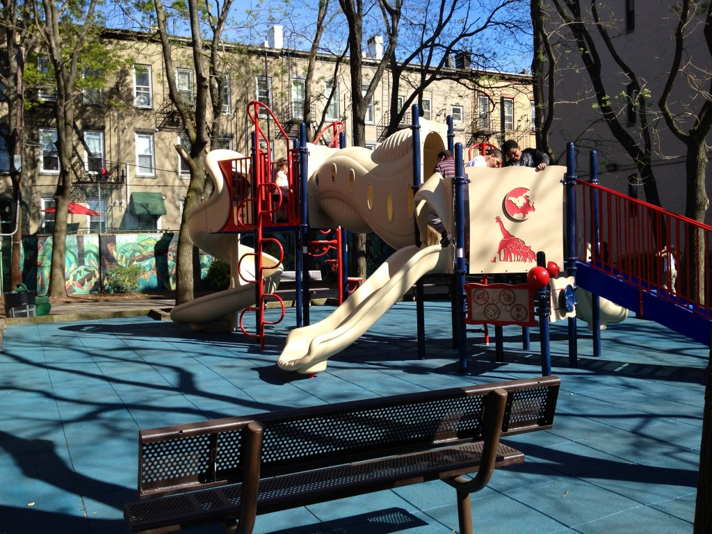 Playground surfacing project that survived Hurricane Sandy and 6 ft of water for days.
