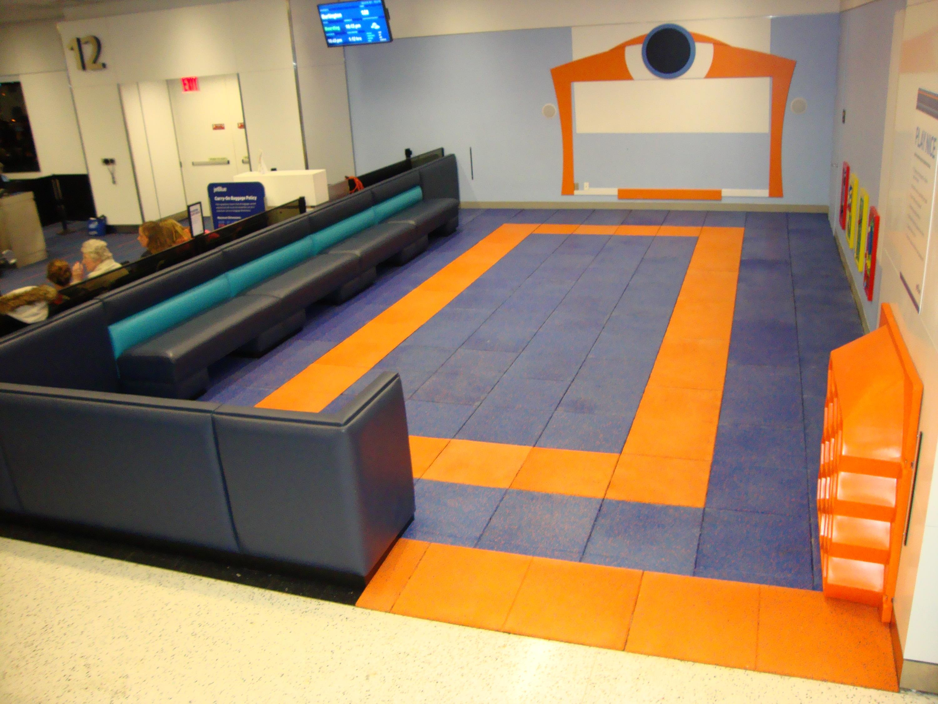 Indoor Airport Safety Surfacing for Kids using Custom Blended Colors