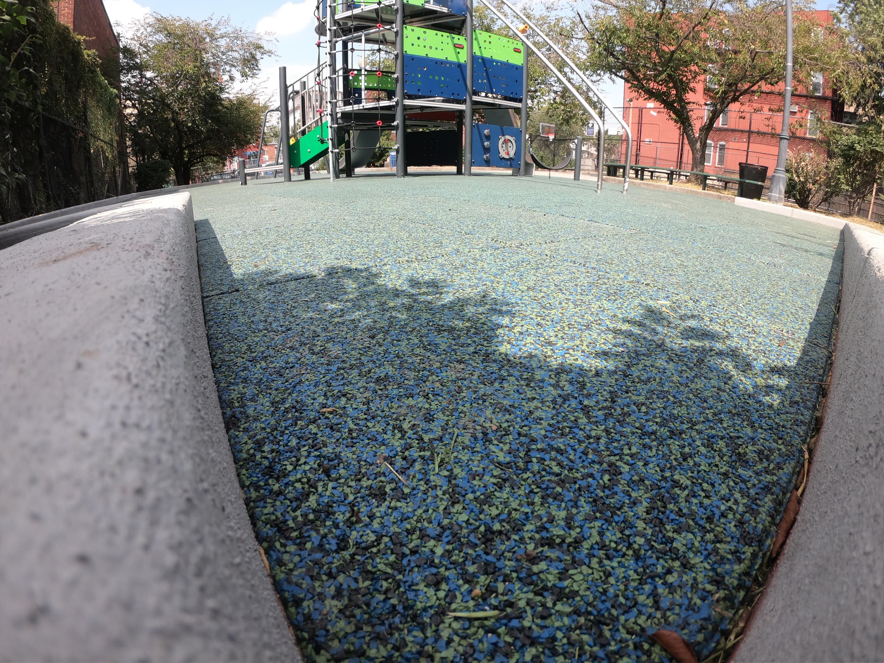 Sgt Anthony Park using Soft-Lands Solid TPV Top Tiles at 45% Green 45% Blue and 10% Black
