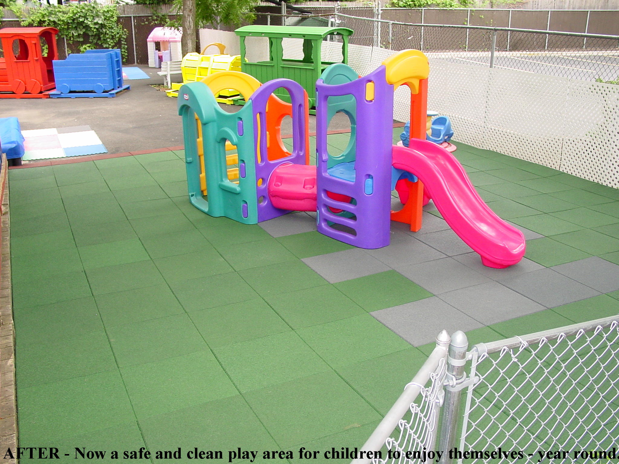 "Daycare Center with 1.75"" thick Pave-Land Series with Designs"