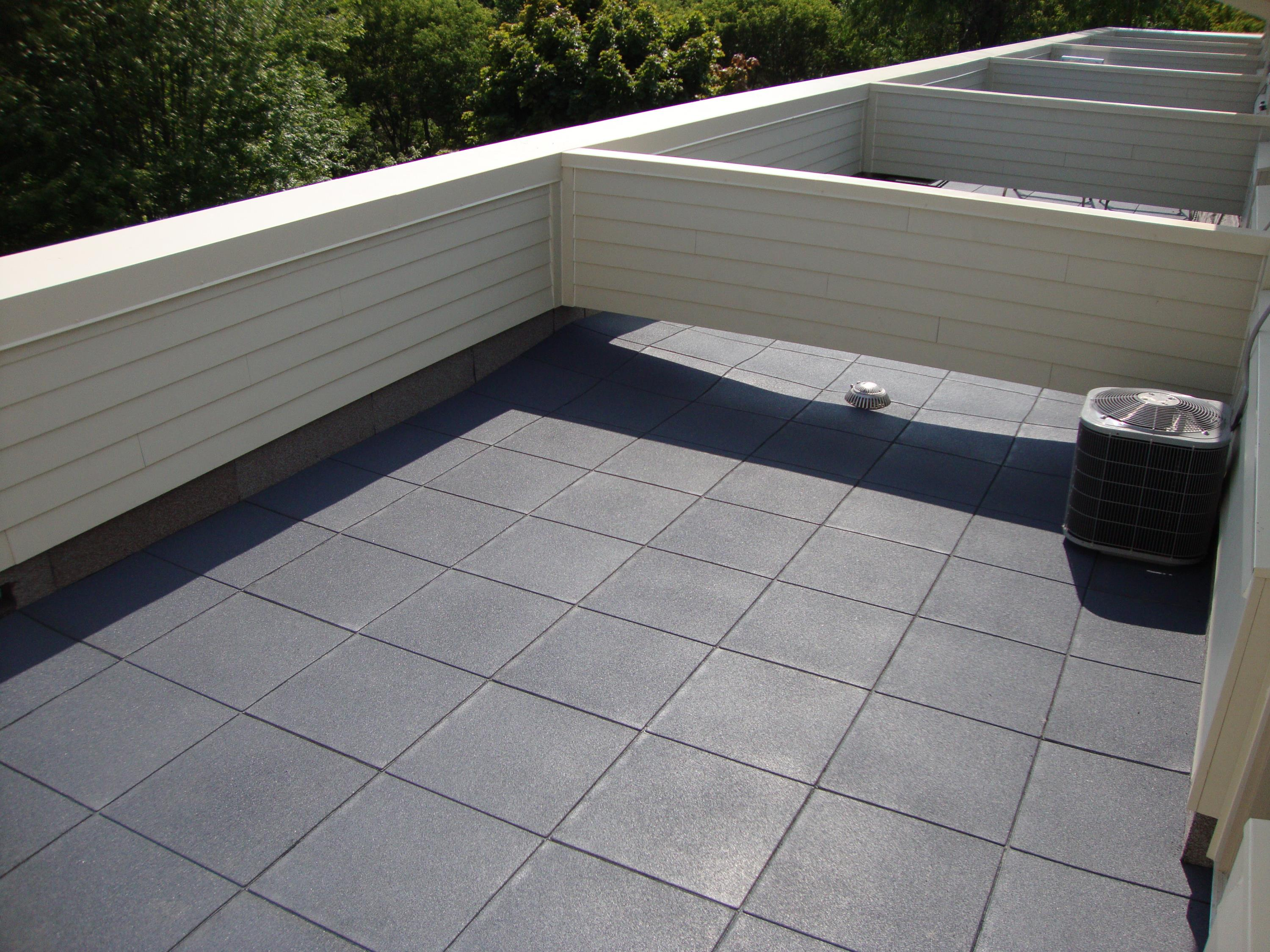 Rubber Pavers Roof Deck Floor