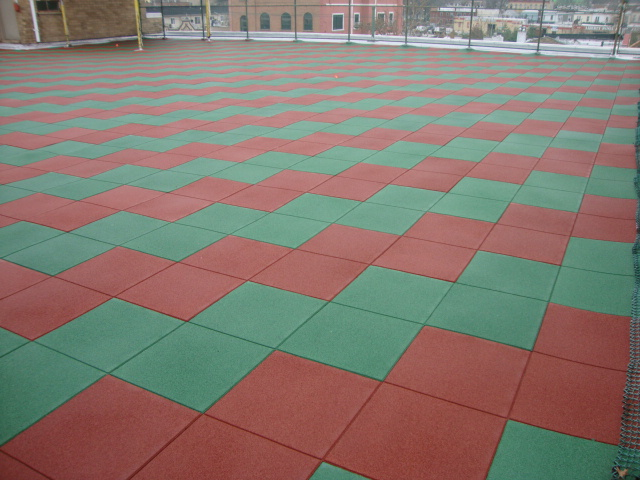 Rooftop Playground Project using Interlocking Rubber TIles