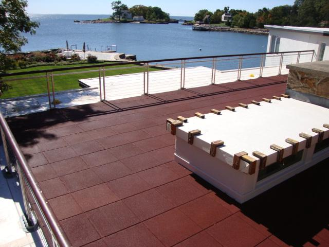 Unity Pavers on rooftop of private residence in Conn