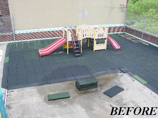 Unity - Rooftop Playground BEFORE it has been painted with Unity Surfacing Systems Products