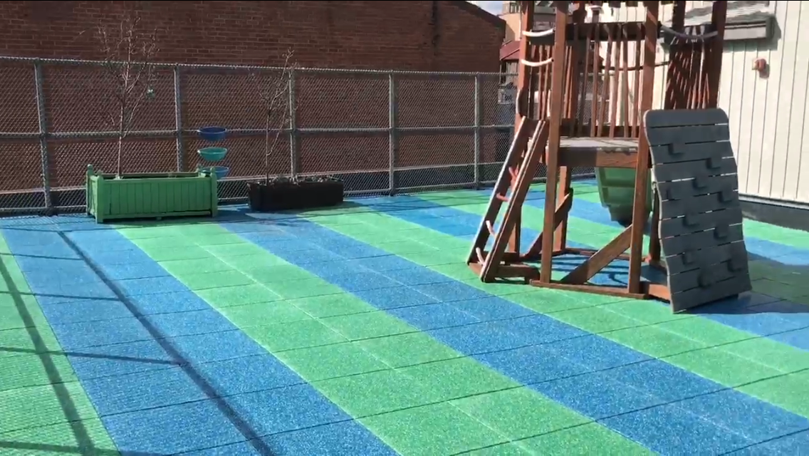 Rooftop Playground in Philadelphia using TPV Chips