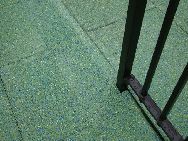 Playground Tiles Transitioning From One Thickness To The Next