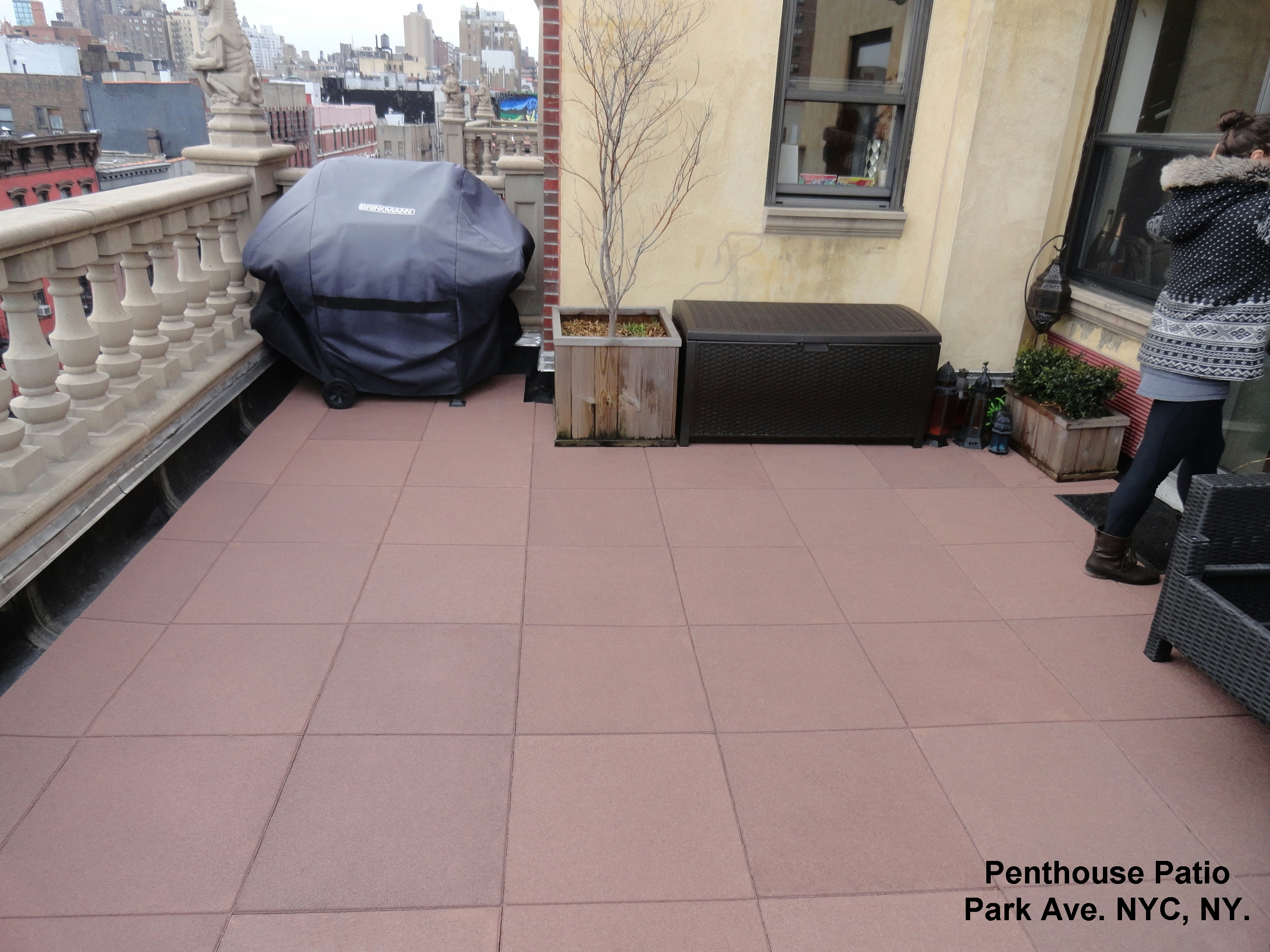 Rooftop Patio Pavers Using Our Rubber Paver System