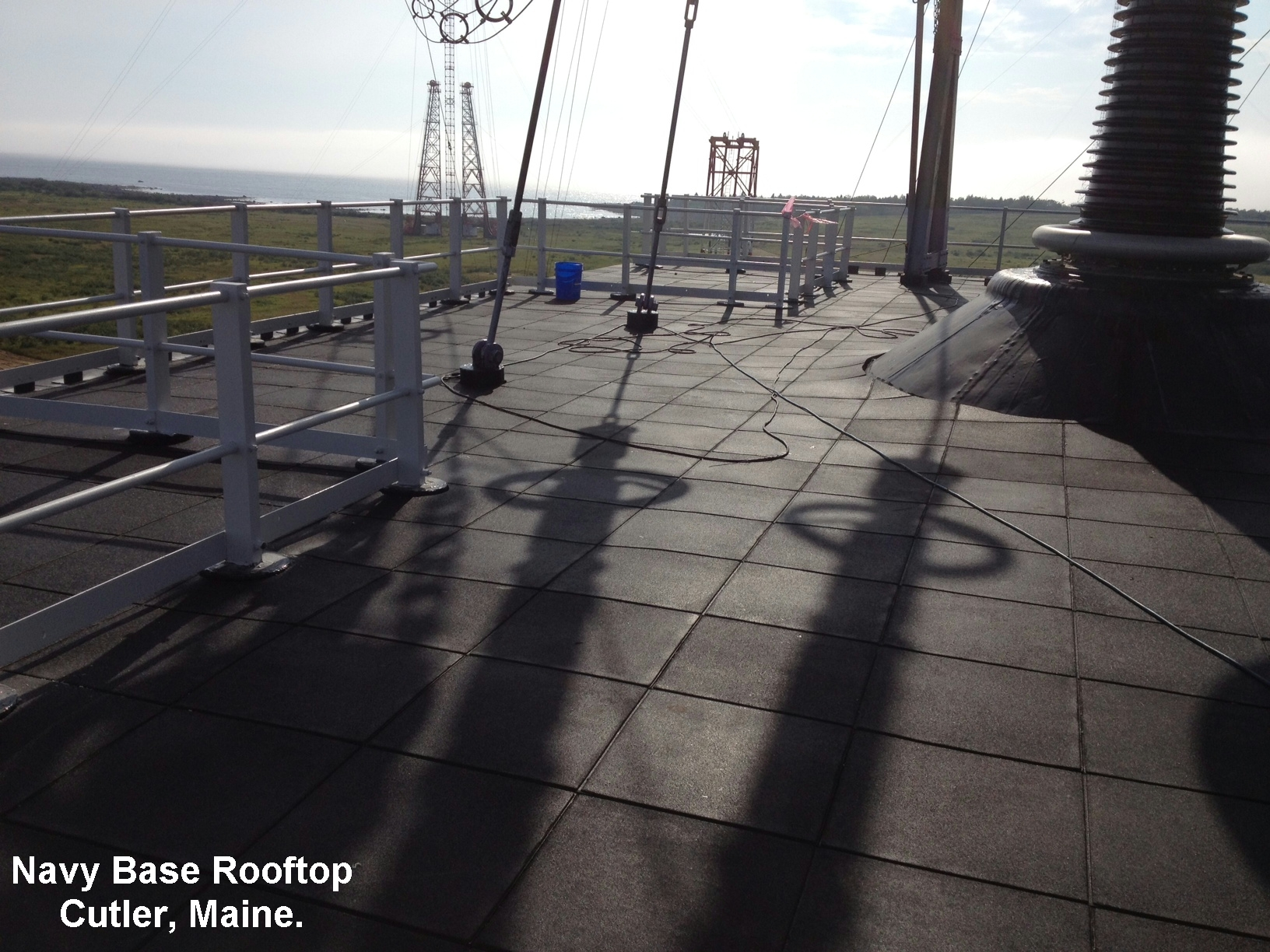 Dual Density Pave-Land Series Installed On This Rooftop Radio Tower