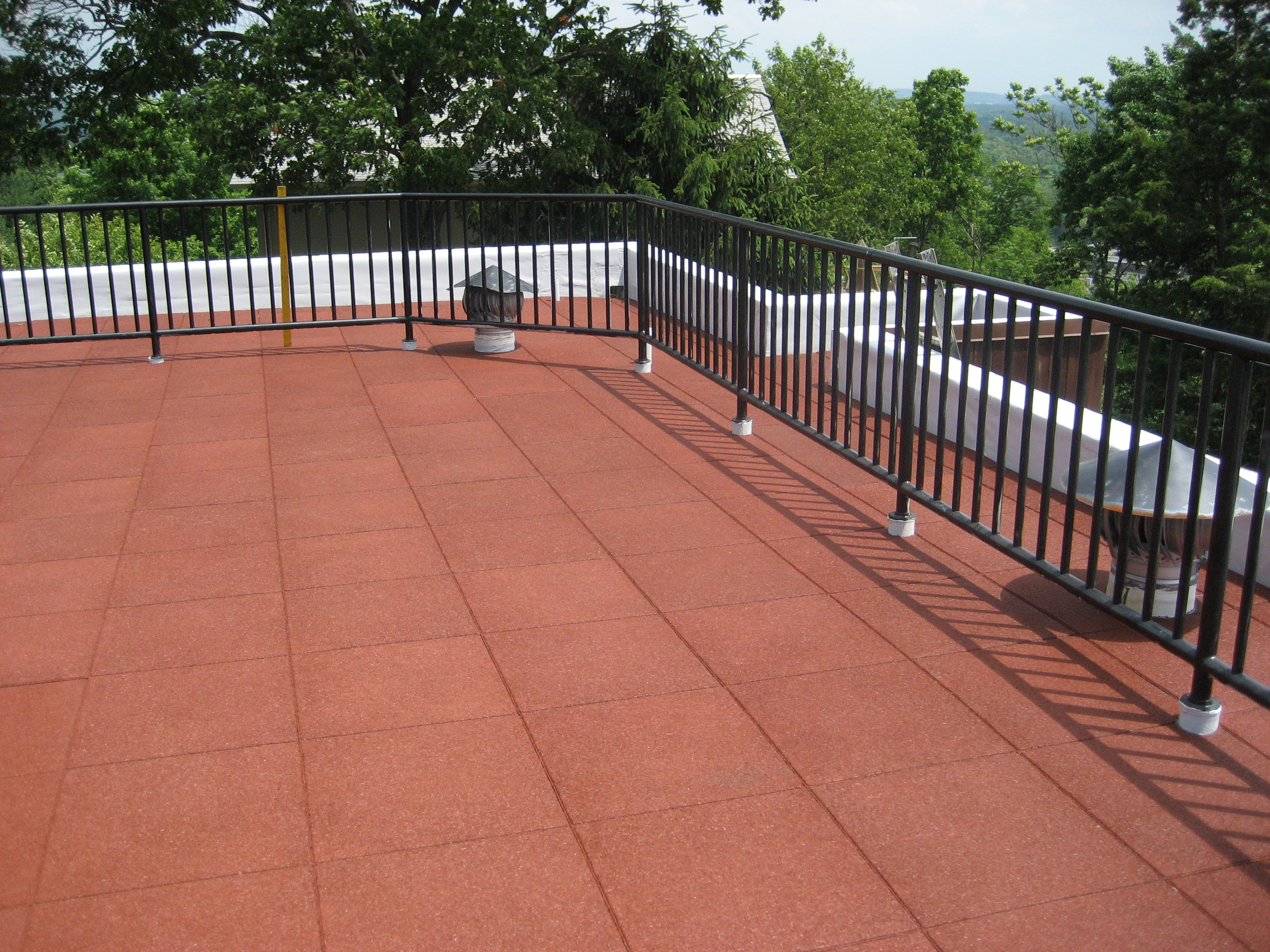 Roof stone pavers best exterior decoration with white for Roof accents
