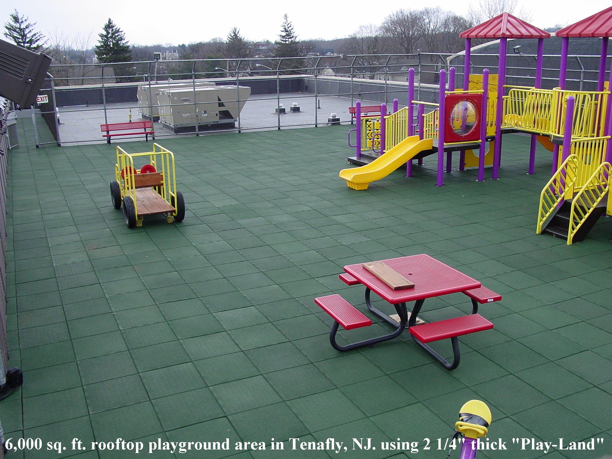 Unity Rooftop Playgrounds Rubber Pavers